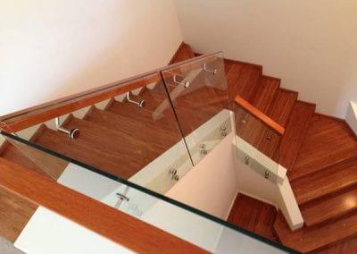 Nedlands – Staircase Balustrade with Oak Handrail