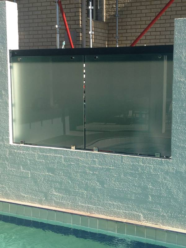 privacy screens for pool with custom glass