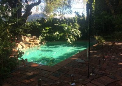 Subiaco – Glass Pool Fencing Compliments Beautiful Garden